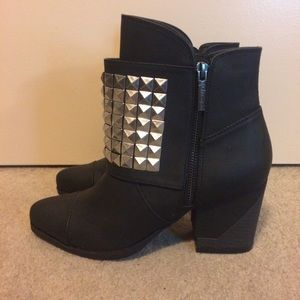 Michael Antonio Black Studded Ankle Boots